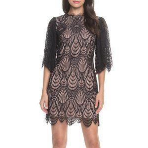 NWOT Dress the Population Toni Scalloped Lace